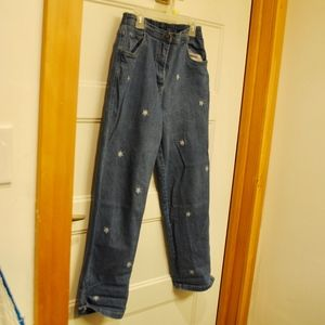 120. high-waisted snowflake mom jeans